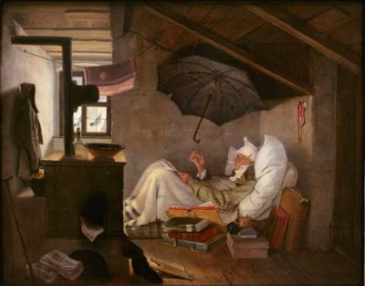 Der arme Poet – Carl Spitzweg, 1839